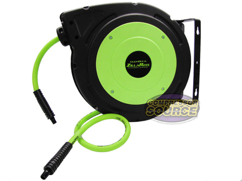 "3/8"" X 50' Retractable Enclosed Air Hose Reel 300 PSI FlexZilla Legacy L8250FZ"