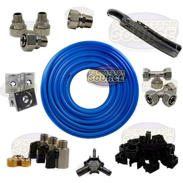 "MaxLine Compressed Air Tubing Piping System Master Kit 3/4"" Line 300 FT M7580"