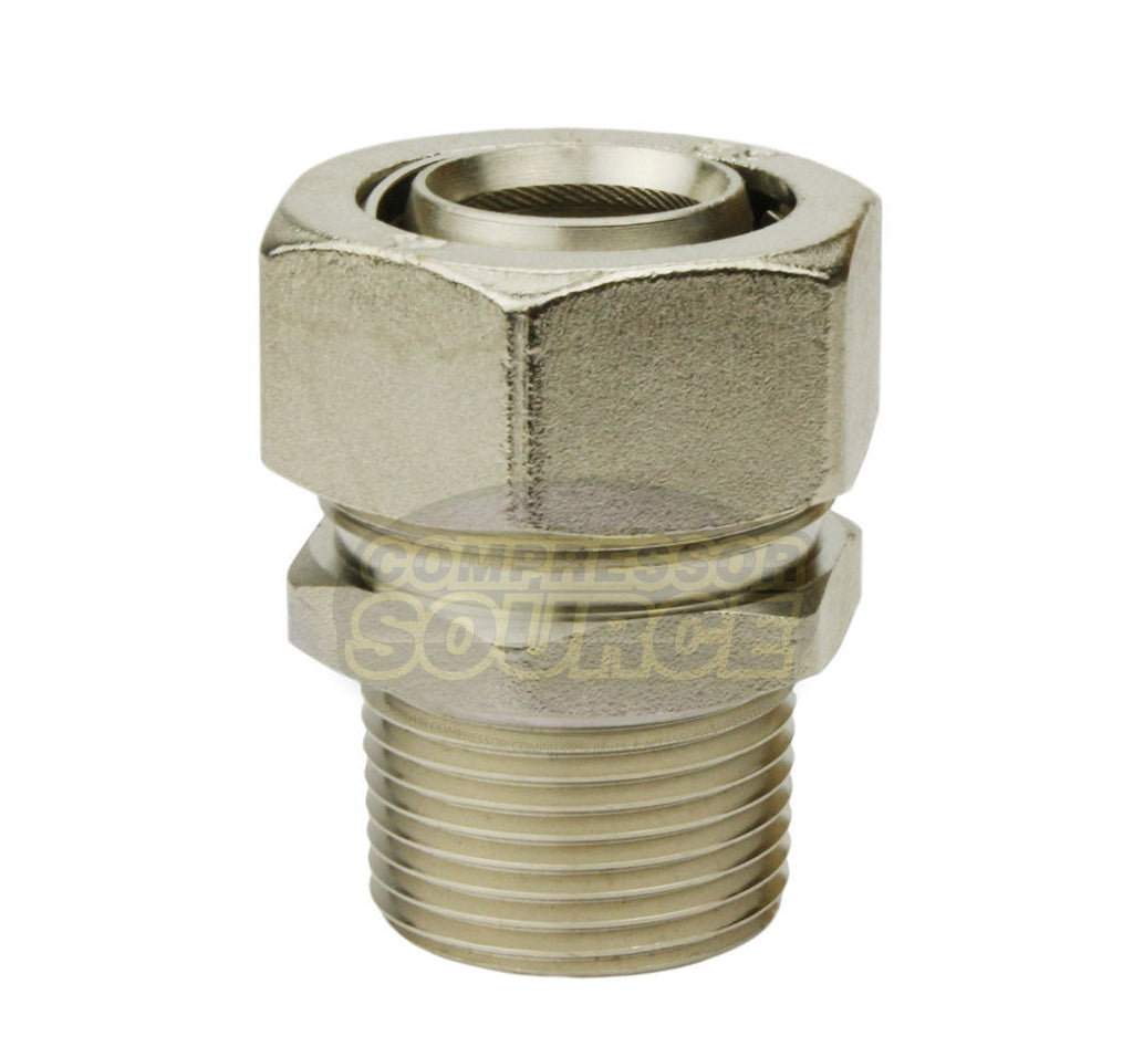 "1"" Inch MaxLINE Piping NPT Adaptor Fitting RapidAir Max Line M8004"