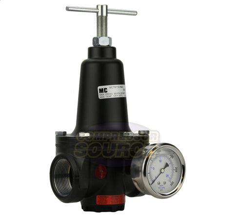 "1"" Inline Compressed Air Compressor Line High Flow Pressure Regulator Valve"