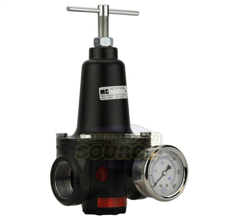 "1.5"" 1-1/2"" Inline Compressed Air Compressor Line High Flow Regulator Valve"