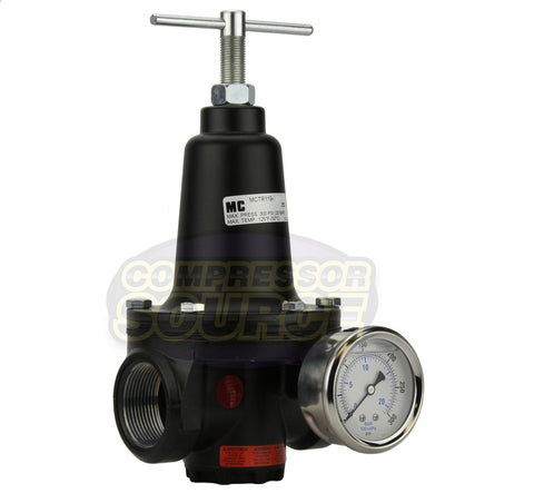 ".75"" 3/4"" Inline Compressed Air Compressor Line High Flow Regulator Valve"