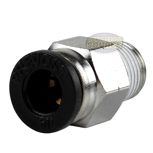 "One 1/8"" Male NPT x 1/4 OD Tube Female Push In To Lock Connect Fitting Straight"