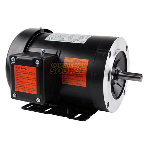 1.5 HP Electric Motor 3 Phase 56C Frame 3600 RPM TEFC 230 / 460 Volt New