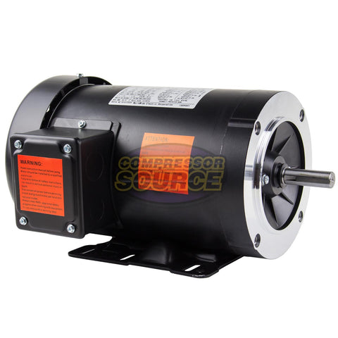 1.5 HP Electric Motor 3 Phase 56C Frame 1800 RPM TEFC 230 / 460 Volt New