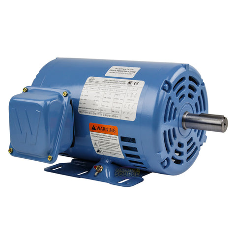 1.5 HP 3 Phase Electric Motor 1800 RPM 145T Frame ODP Open Drip Proof 230/460V