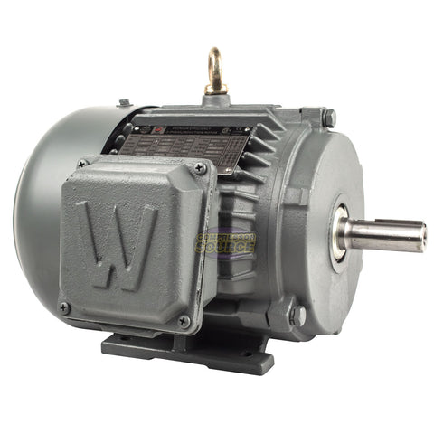 1 HP 3 Phase Electric Motor 1800 RPM 143T Frame TEFC 230/460V Premium Efficiency