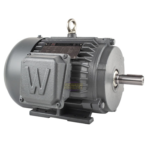 1.5 HP 3 Phase Electric Motor 1800 RPM 145T Frame TEFC 230/460V Premium Efficiency