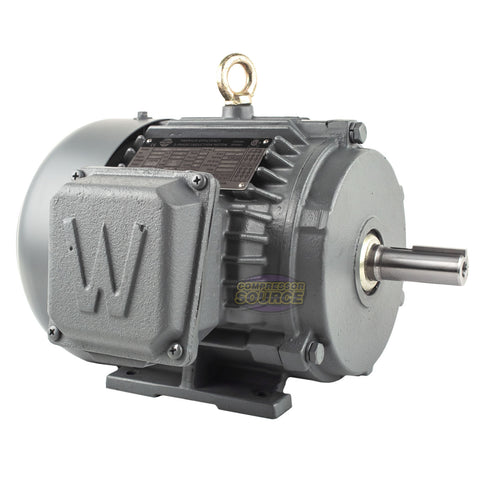 1.5 HP 3 Ph Electric Motor 3600 RPM 143T Frame TEFC 230/460V Premium Efficiency