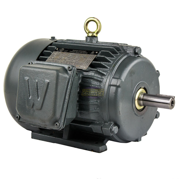 2 HP 3 Phase Electric Motor 1800 RPM 145T Frame TEFC 230/460V Premium Efficiency
