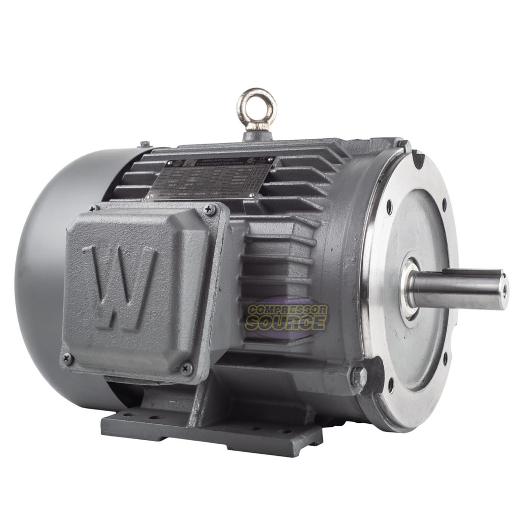 5 HP 3 Phase Electric Motor C-Face 1800 RPM 184TC TEFC 230/460 Volt Severe Duty