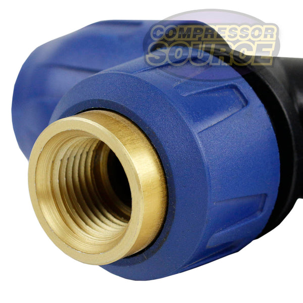 3 Way Tee Fitting Quick Line Connector Compressed Air Tubing QLTPPA020048NPT
