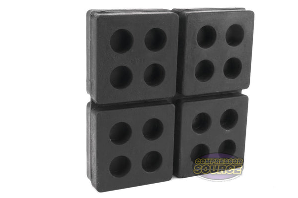 "Set of 3 New Industrial Anti Vibration Pads 4"" x 4"" x 3/4"" Thick"