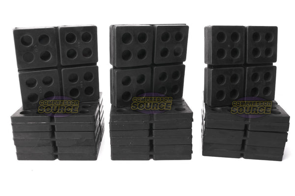 "Set of 12 New Industrial Anti Vibration Pads 4"" x 4"" x 3/4"" Thick"