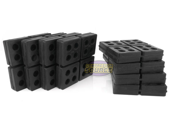 "Set of 8 New Industrial Anti Vibration Pads 4"" x 4"" x 3/4"" Thick"