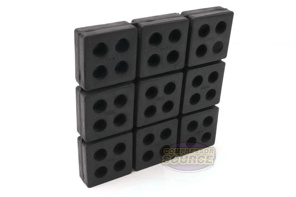 Anti Vibration Pad All Rubber Isolation Dampener Industrial Heavy Duty 6x6x3/4""
