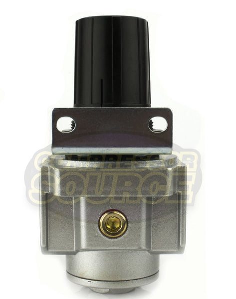 "1/2"" Air Compressor Pressure Regulator with Gauge and Wall Mounting Bracket"