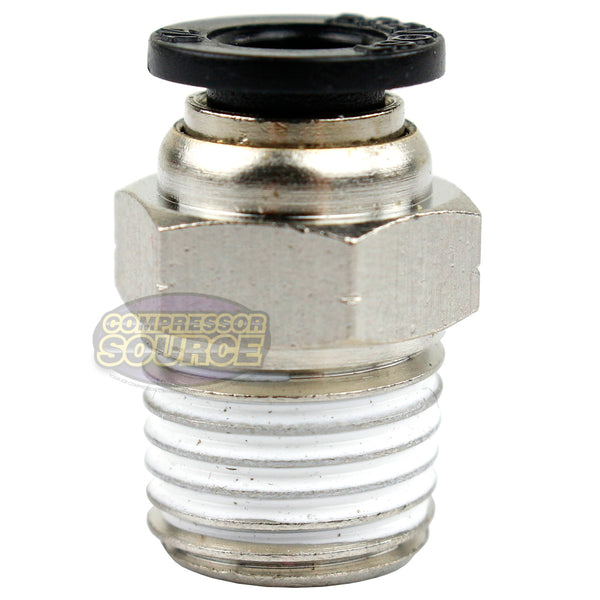 "1/4"" Male NPT x 1/4 OD Tube Female Push In To Lock Connect Fitting Straight"