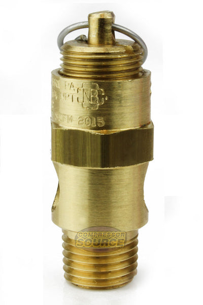 "450 PSI 1/4"" Male NPT Air Compressor Pressure Relief Safety Pop Off Valve"