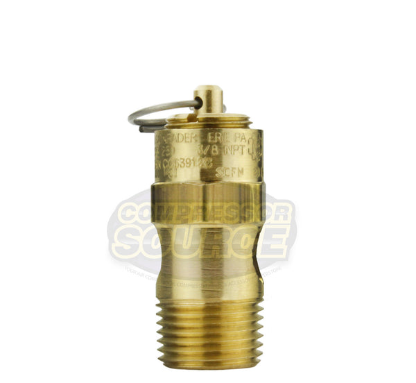 "125 PSI 3/8"" Male NPT Air Compressor Pressure Relief Safety Pop Off Valve"