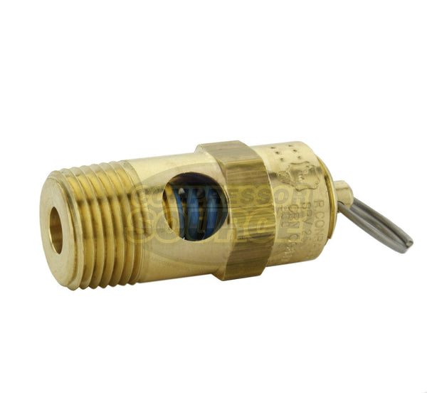 "190 PSI 3/8"" Male NPT Air Compressor Pressure Relief Safety Pop Off Valve"