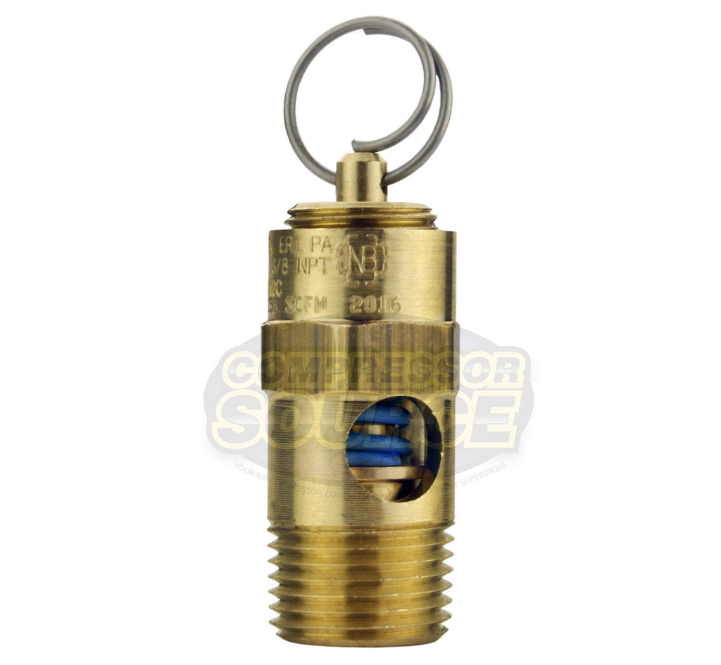 "25 PSI 3/8"" Male NPT Air Compressor Pressure Relief Safety Pop Off Valve"