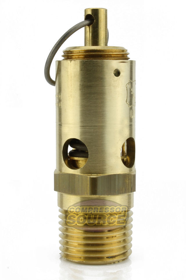 """3//8/"""" NPT 135 PSI SAFETY RELIEF POP OFF VALVE FOR AIR COMPRESSOR TANK RELEASE"""