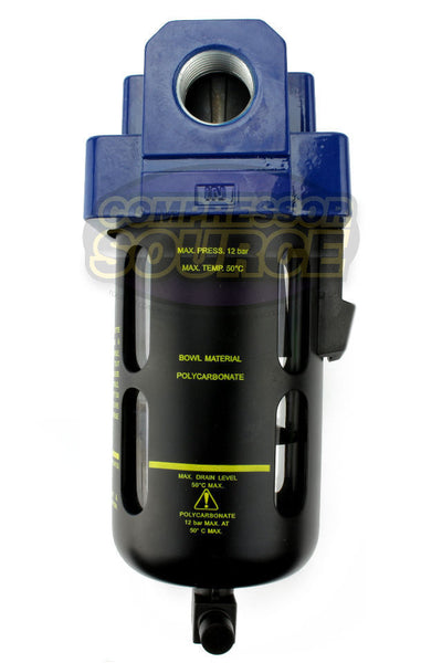"Prevost 1/2"" Compressed Air In Line Moisture / Water Filter Trap"
