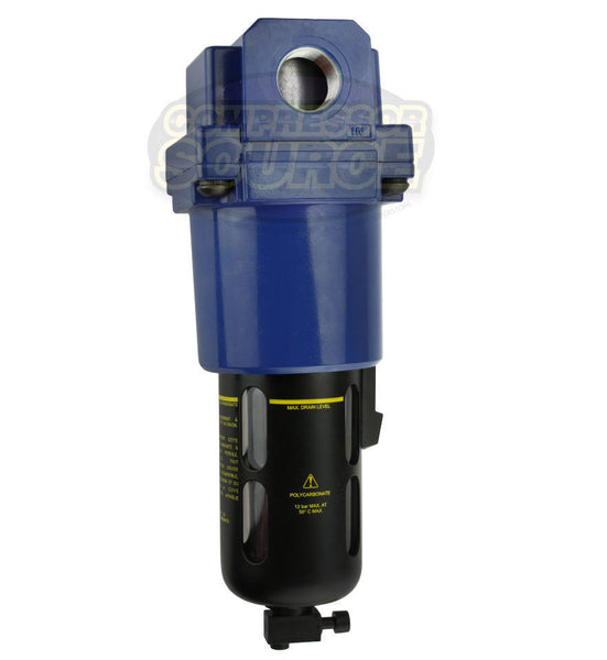 "Prevost 1"" Compressed Air In Line Moisture / Water Filter Trap High CFM"