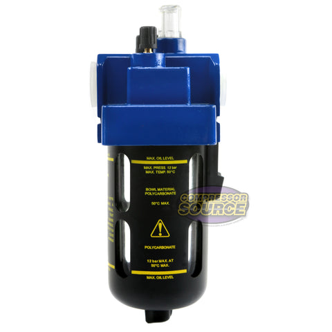 "Prevost 1/2"" Compressed Air In-Line Oiler / Lubricator Inline Oil Lubrication"