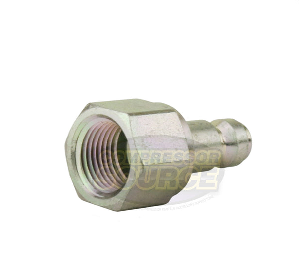 "Prevost 3/8"" Female NPT Truflate / Automotive Hardened Steel Coupler Plug"