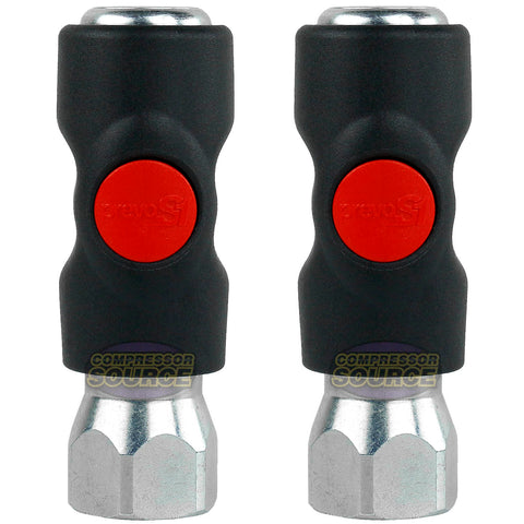 "2 Pack Prevost Push Button Automotive Style Truflate Air Coupler 1/2"" NPT USI061203"