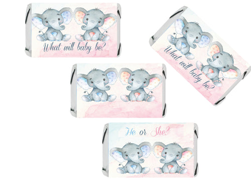 Gender Reveal Baby Shower Favors | What Will It Be? | Hershey Candy Stickers Baby Shower Party Supplies