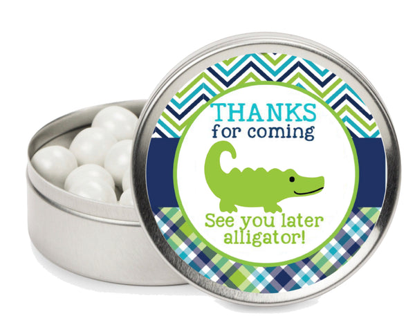 Alligator Theme Candy Stickers for Hershey Kisses