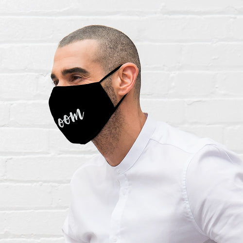 Bridal Party Face Mask / Groom Black