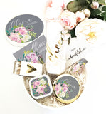 Floral Personalize Round Gift Box Set