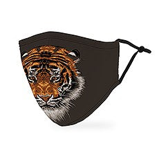 Adult Reusable / Washable Cloth Face Mask With Filter Pocket / Animal Print