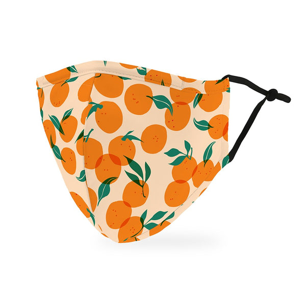 Adult Reusable / Washable Cloth Face Mask With Filter Pocket / Orange / Face Masks For The Foodie