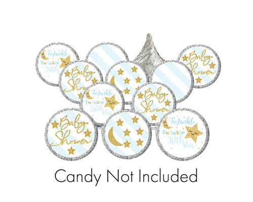 Twinkle Twinkle Little Star Candy Stickers / Hershey's Kisses Stickers / Pink or Blue