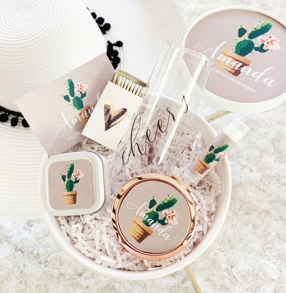 Cactus Personalize Gift Box Set