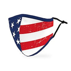 Adult Reusable / Washable Cloth Face Mask With Filter Pocket / Patriotic Face Masks for Adults