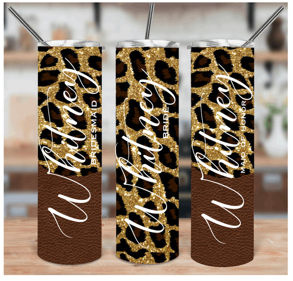 Personalized Custom Leopard Tumbler