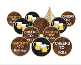 Cheers Beer Candy Stickers for Hershey Kisses