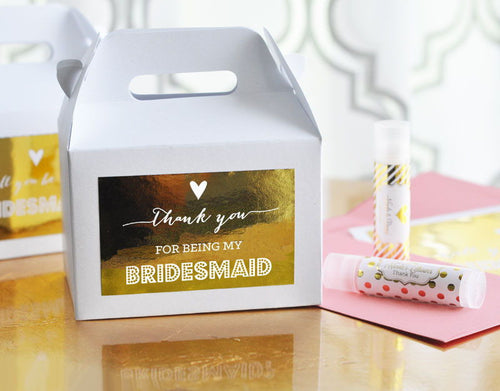 Bridal Party Thank You Boxes (set of 8)