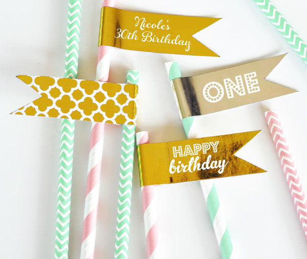 Gold BIRTHDAY Party Balloons (set of 3)