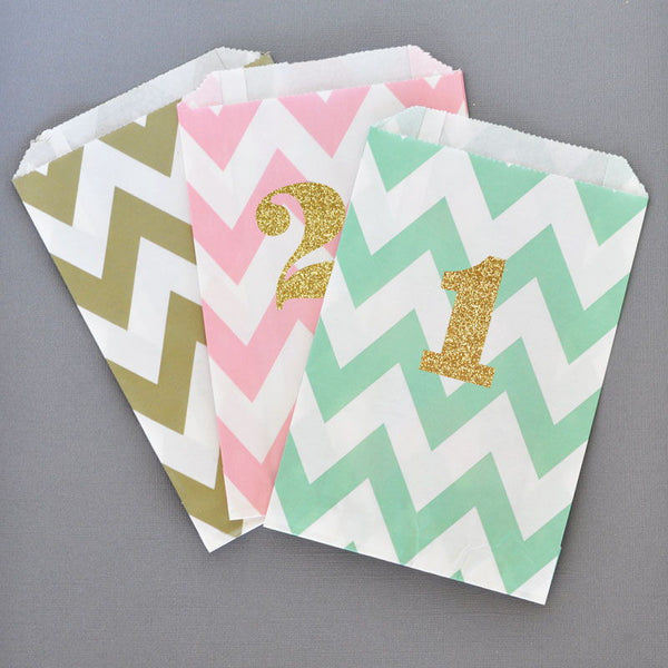 "Glitter Numbers ""1"" Stickers (Set of 24)"