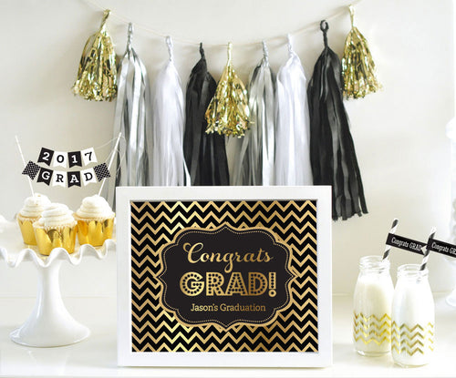Custom Text Sign – Graduation Metallic Foil