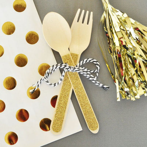 Glitter Spoons & Forks (set of 24)