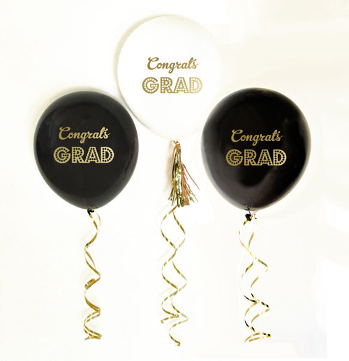 Gold Graduation Party Balloons (set of 3)