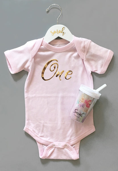 First Birthday Baby Bodysuit | FREE SHIPPING | CODE SHIPFREE